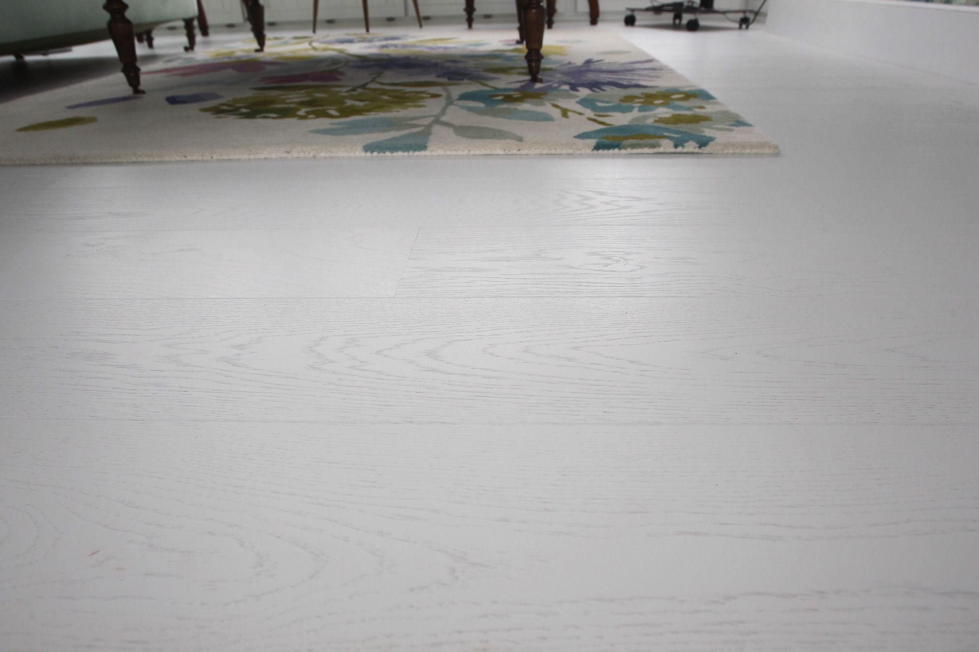 suelo de parquet blanco personalizado