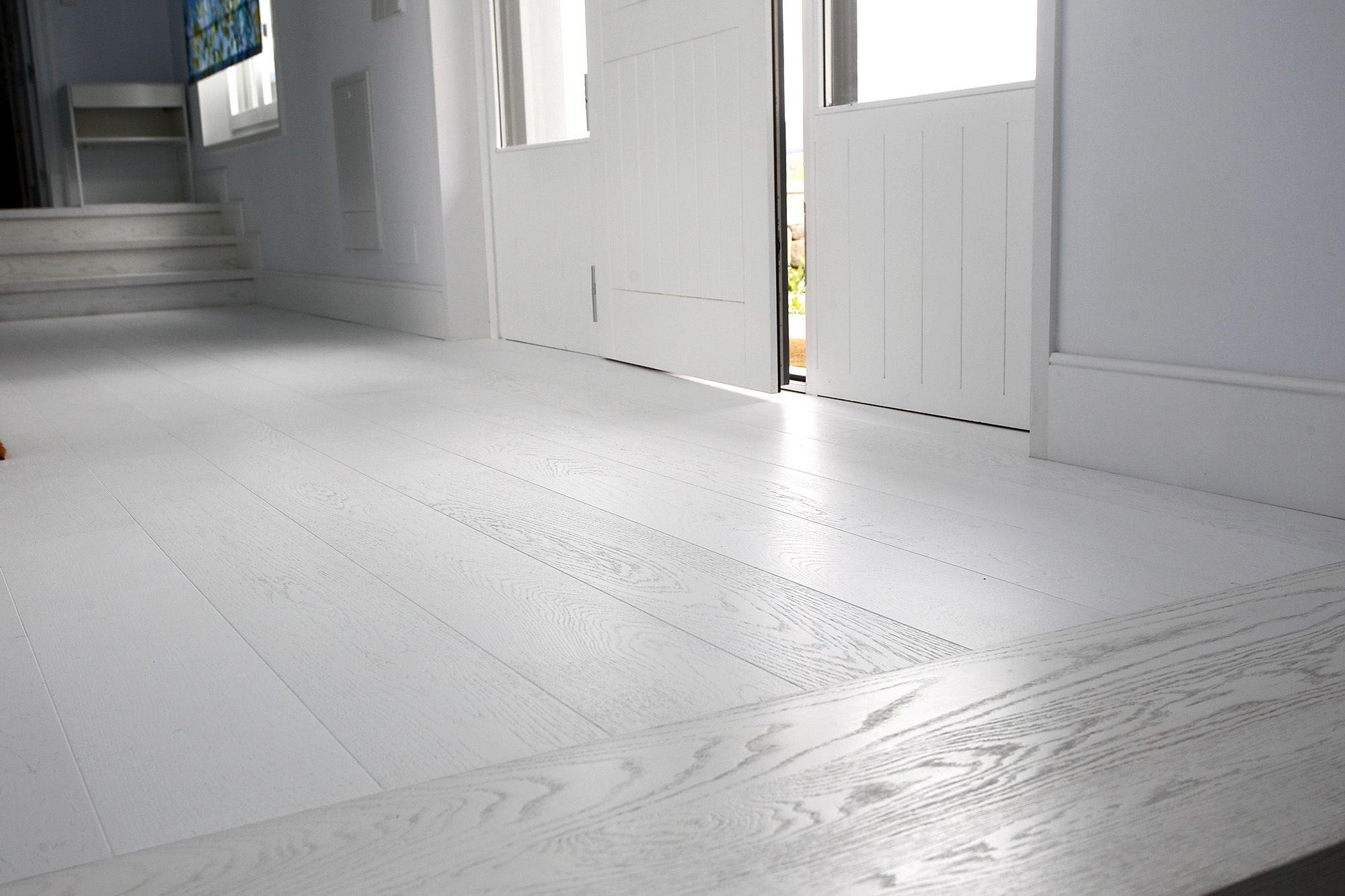 suelo parquet roble lacado blanco mate